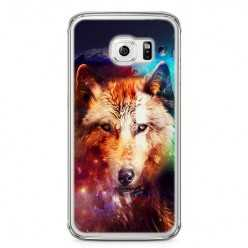 Etui na telefon Samsung Galaxy S6 - wilk z galaktyki.