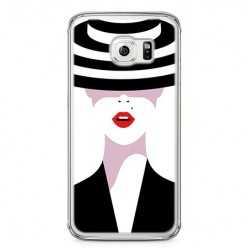 Etui na telefon Samsung Galaxy S6 - kobieta w kapeluszu.