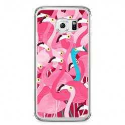 Etui na telefon Samsung Galaxy S6 - różowe ptaki flaming.