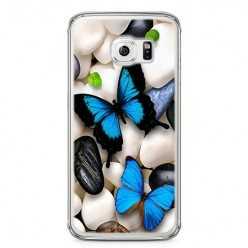 Etui na telefon Samsung Galaxy S6 - niebieskie motyle.