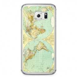 Etui na telefon Samsung Galaxy S6 - mapa świata.