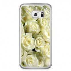 Etui na telefon Samsung Galaxy S6 - białe róże.