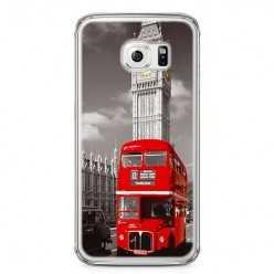 Etui na telefon Samsung Galaxy S6 - czerwony autobus.