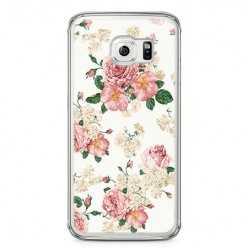 Etui na telefon Samsung Galaxy S6 - kolorowe polne kwiaty.