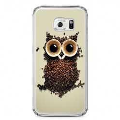 Etui na telefon Samsung Galaxy S6 - sowa z kawy.