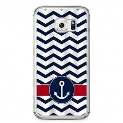 Etui na telefon Samsung Galaxy S6 - marynarska kotwica.