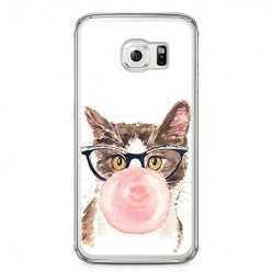Etui na telefon Samsung Galaxy S6 - kot z gumą balonową.