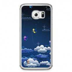 Etui na telefon Samsung Galaxy S6 - podniebne aniołki.