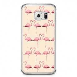 Etui na telefon Samsung Galaxy S6 Edge - różowe flamingi.