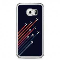Etui na telefon Samsung Galaxy S6 Edge - samoloty odżutowe.