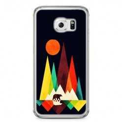 Etui na telefon Samsung Galaxy S6 Edge - zachód słońca, abstract.