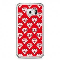 Etui na telefon Samsung Galaxy S6 Edge - czerwone diamenty.