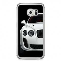 Etui na telefon Samsung Galaxy S6 Edge - biały samochód.