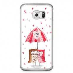 Etui na telefon Samsung Galaxy S6 Edge - zakochane sowy.
