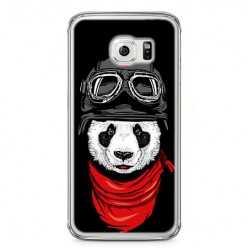 Etui na telefon Samsung Galaxy S6 Edge - panda w czapce.