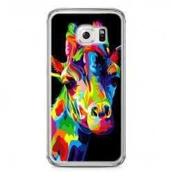 Etui na telefon Samsung Galaxy S6 Edge - kolorowa żyrafa.
