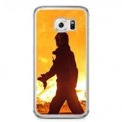 Etui na telefon Samsung Galaxy S6 Edge - strażak w akcji.