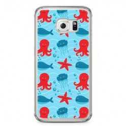Etui na telefon Samsung Galaxy S6 Edge - morskie zwierzaki.