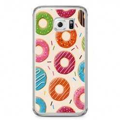 Etui na telefon Samsung Galaxy S6 Edge - kolorowe pączki.