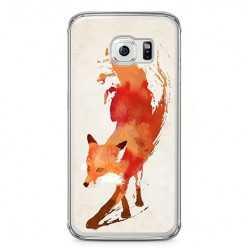 Etui na telefon Samsung Galaxy S6 Edge - watercolor Lis.