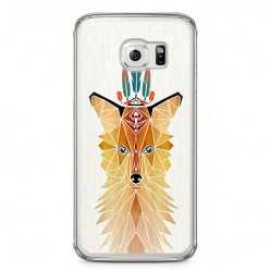 Etui na telefon Samsung Galaxy S6 Edge - kolorowy Lis abstract.