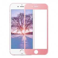 Hartowane szkło na Cały ekran 3D - iPhone 6 / 6s - różowy.