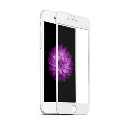 Hartowane szkło na Cały ekran 3D - iPhone 6 Plus / 6s Plus - biały.