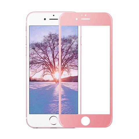 Hartowane szkło na Cały ekran 3D - iPhone 6 Plus / 6s Plus - różowy.