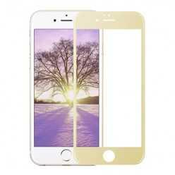 Hartowane szkło na Cały ekran 3D - iPhone 6 Plus / 6s Plus - złoty.