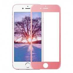 Hartowane szkło na Cały ekran 3D - iPhone 7 - różowy.
