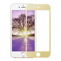 Hartowane szkło na Cały ekran 3D - iPhone 7 - złoty.