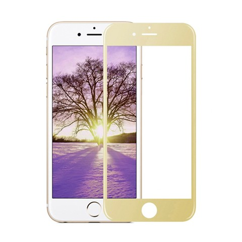 Hartowane szkło na Cały ekran 3D - iPhone 7 Plus - złoty.