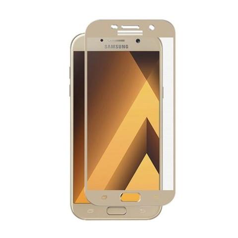 Hartowane szkło na Cały ekran 3D - Galaxy A5 2017 - złoty.
