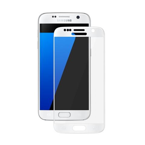 Hartowane szkło na Cały ekran 3D - Galaxy S7 - biały.