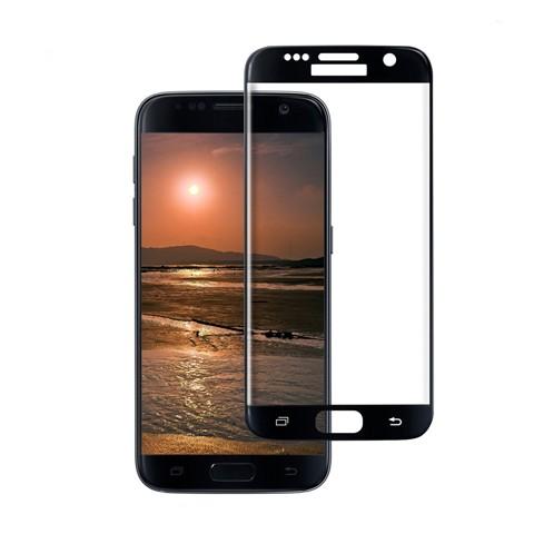 Hartowane szkło na Cały ekran 3D - Galaxy S7 - czarny.
