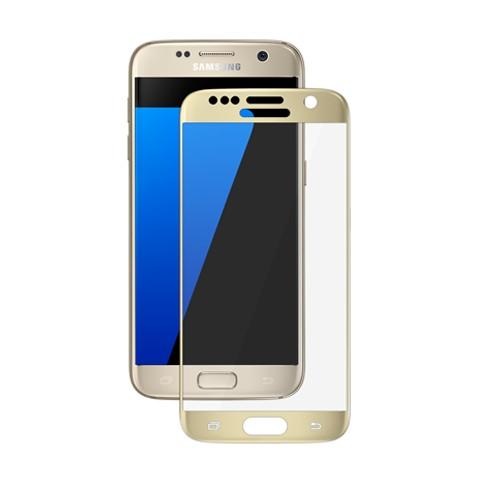 Hartowane szkło na Cały ekran 3D - Galaxy S7 - złoty.