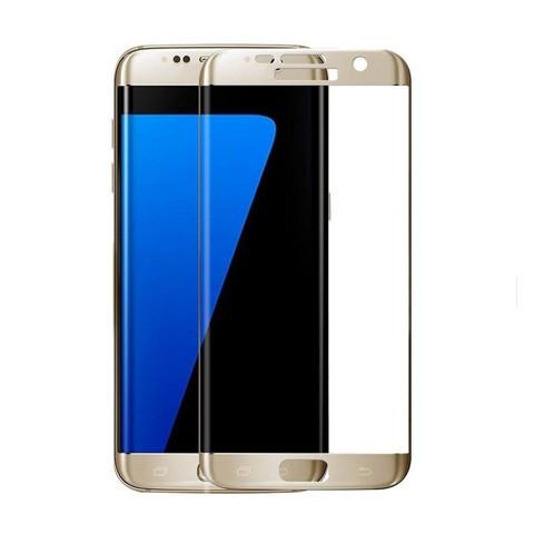 Hartowane szkło na Cały ekran 3D - Galaxy S7 Edge - złoty.