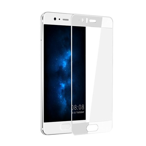 Hartowane szkło na Cały ekran 3D - Huawei P10 - biały.