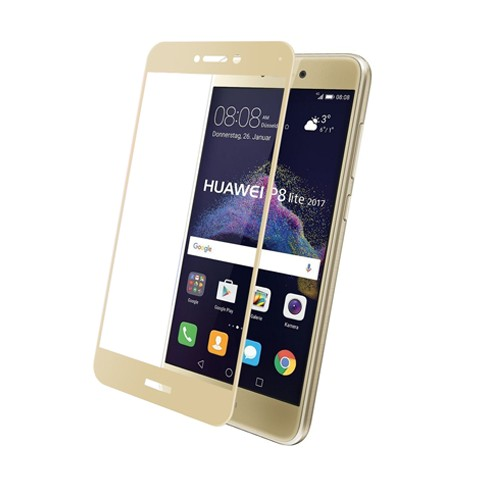Hartowane szkło na Cały ekran 3D - Huawei P9 Lite 2017- złoty.