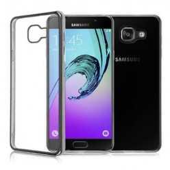 Platynowane etui na Galaxy A5 2017 silikon SLIM - grafitowy.