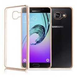 Platynowane etui na Galaxy A5 2017 silikon SLIM - złoty.