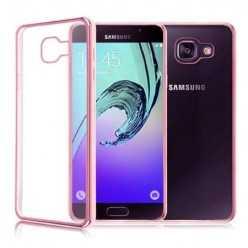 Platynowane etui na Galaxy A5 2017 silikon SLIM - różowy.