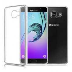 Platynowane etui na Galaxy A5 2017 silikon SLIM - srebrny.