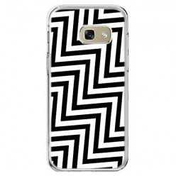 Etui na telefon Galaxy A5 2017 (A520) - czarno - biały Zyg Zag.