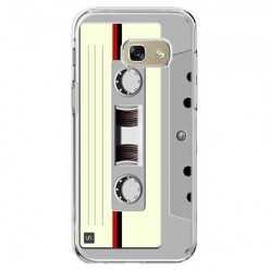 Etui na telefon Galaxy A5 2017 (A520) - kaseta retro - biała.