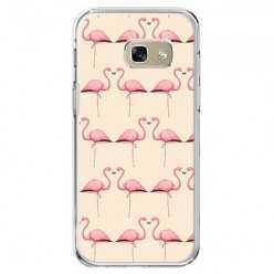Etui na telefon Galaxy A5 2017 (A520) - różowe flamingi.