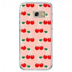 Etui na telefon Galaxy A5 2017 (A520) - czerwone wisienki.