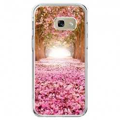 Etui na telefon Galaxy A5 2017 (A520) - różowe liście w parku.