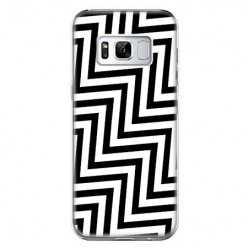 Etui na telefon Samsung Galaxy S8 - czarno - biały Zyg Zag.