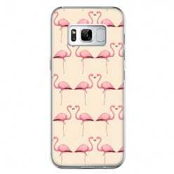 Etui na telefon Samsung Galaxy S8 - różowe flamingi.